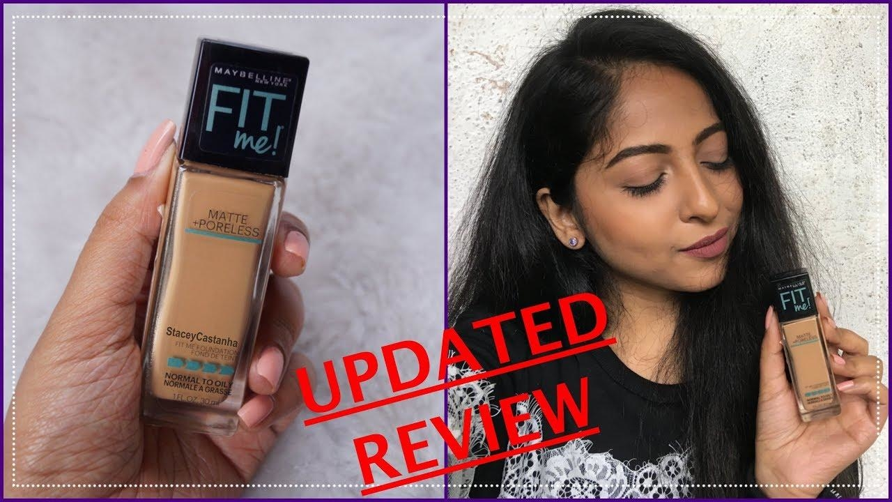 MAYBELLINE FIT ME MATTE + PORELESS FOUNDATION REVIEW | Stacey Castanha #maybelline #maybellineindia #maybellinefitme #maybellinefoundation #makeup #bblogger #review #youtube #indianblogger #puneblogger