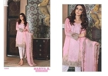 Mariya cotton suits with a beautiful embroidery and a beautiful net dupatta  book now at 9899822293