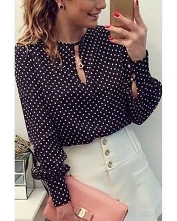 ✔ Black #Polka #Dots #Crepe #Top ✔ Shop @ https://goo.gl/ugyRjG  ✔ Price : Rs. 799/- ✔ Product Code : ISF5727PI673 ✔ Call or Whatsapp : 9643888188