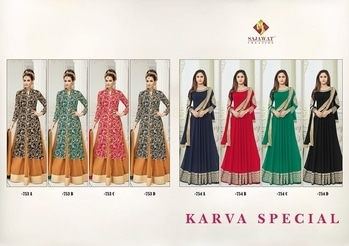 for more info to call or whatsApp :- +91-9099988470   Launch by  this fastival Karva special Dhamaka  Super hit ketronic dark chart       Supar Finishing Dress materials     Catalogue Name:-     💫KARVA SPECIAL 💫  👗Top - heavy Semi Jorjat  👖Bottom=Dull santoon (2.5mtr approx) Inner=Dull Santoon Duppta=Heavy Nazmin  Average Price :- 1250/- + 5% GST   Pcs=2 designs 4 colour total (8pcs)  ⏰Disptching On:=    30 September    #new_dress_style #spring_fashion #famous_fashion_designers #fashion_for_men #fashion_stylist #vintage_fashion #fashion_industry #infashion #celebrity_fashion #fashion_school #fashion_mode #asian_fashion #trendy_fashion #urban_fashion shion_outfits #korean_fashion_online #young_fashion #london_fashion #fashion_pictures #fashion_runway #current_fashion_trends #latest_dress_design_2017 #fashion_women #top_fashion_designers #whol