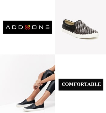 A foot of comfort means miles of happiness ! #addonsbagsnfootwear #addons #footwear #plimsoles #comfortable #happiness... #happyfeet #black #fashion #fashionblogger #blogger #trendy