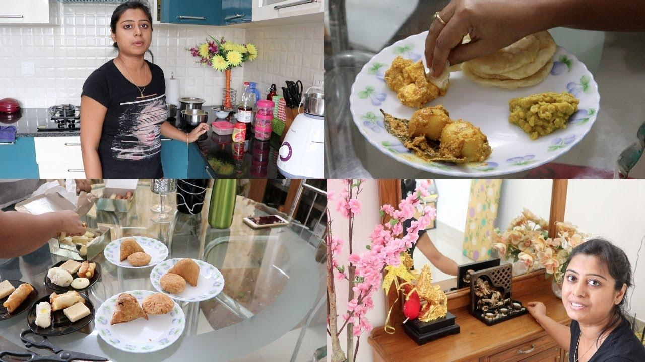 Durga Puja special Lunch || Small Room Tour