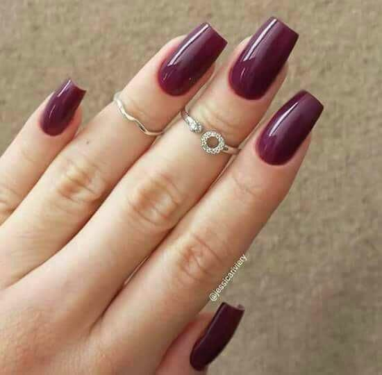 Who wants nails like these! ❤❤Well I myself want it 😔 #nails #beauty #ringslover #nailslover #maroonnailpaint #followformore #followmefast #followformoreupdates #followformuchmore
