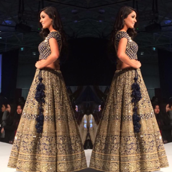 Our Client In A Beautifully Embroidered Lehenga