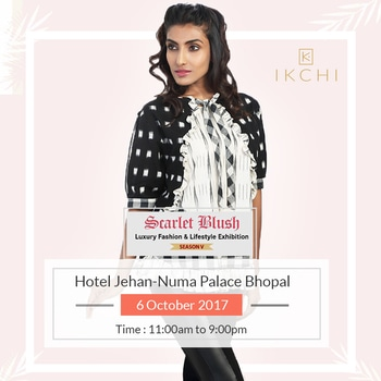 Bhopal it's your turn now, #Ikchi can't wait to meet you! #exhibition #exhibition2017 #indianexhibitions #fashionexhibition #bestylish #befashionable #beyou #fashion #style #indore #ikat #ikatdesigns #dresses #traditionalclothes #indiantraditionaloutfit #bhopal #scarletblush #october