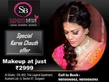 Special offer on Karva Chauth Make at just Rs 2999  #karvachauth #love #care #makeup #lookgood #feelgood #hindu #festival #wife #husband #mehandi #eyemakeup #subtle ##hairdo #countouring #mascara #makeupbrushes #instagram #instamakeup #makeupporn #makeupaddict #beautifu
