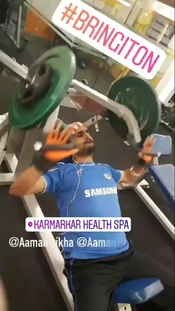 The Fitness Star, RockStar @AamanTrikha sweats it all out 💝 Surrender to Music and Fitness 🏋🏻🤸🏻‍♂️ 💪🏼 #Aamantrikha #music #health #Basics #fitness #fit  #fitnessaddict #fitspo #workout #bodybuilding #fitspiration #gym #train #training #videooftheday #health #healthy #instahealth #healthychoices #active #strong #motivation #progress #determination #lifestyle #diet #getfit #cleaneating #eatclean #exercise