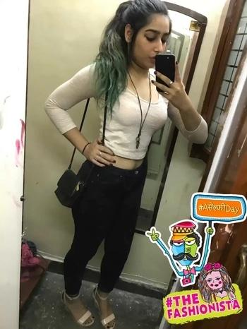 #pink #black #jeans #croptop #heels #wedges #blackswag #blush #blushpink #bluehair #awesome #fashion #stylediaries #styling #thefashionista #aselfieday