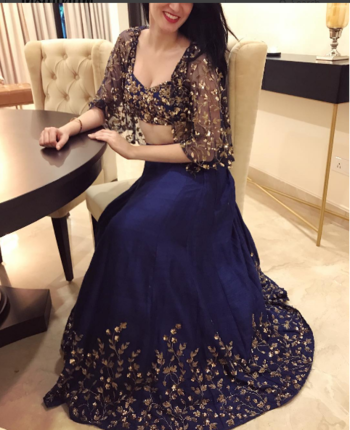 Our Client In Blue Lehenga