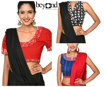 For all you saree lover...!!! Make a fashion statement with these blouses... overlap, shirt style, puff sleeves and more...  Shop now only at www.beyondgallery.com  #Fashion #Saree #Love #Blouse #Style #BeyondGallery #Festival #Diwali #OOTD #Designer #Collection #Special #NewYear #Diwali2017
