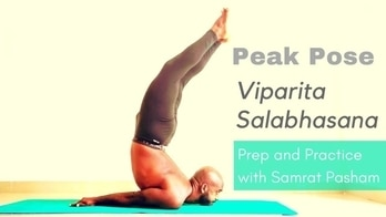 Subscribe to my YouTube channel for more yoga tips and tutorials.  In this video I show you how I prep and practice Viparita Salabhasana (Full Locust Pose)   this is an advanced backbend that targets the upper back, chest and neck. This is an intense posture, I recommend that you approach this with humility and under the guidance of a knowledgeable yoga teacher.  . . . #yogaprep #yogatips #yogapractice #yogatutorials #yoga #yogainspiration #workoutwednesday #wednesdaymotivation #yogainstructor #healthconsultant #healthtips #wellness