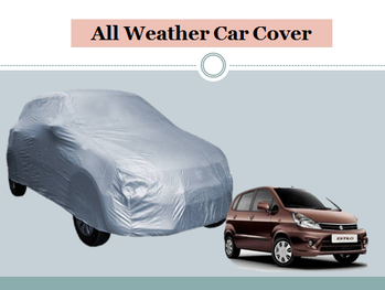 STARIE CAR COVER FOR MARUTI SUZUKI ZEN ESTILO (WITHOUT MIRROR POCKETS) (SILVER).... This cover protect you from the sun, dust and snow. For purchase just click on the link given here:- http://amzn.to/2ynXHfV #carcover #coverforcar #caraccessories