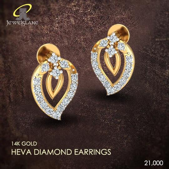 Heva daily wear #diamond #earrings in a petite paisley design.. #diamondbali #goldbali
