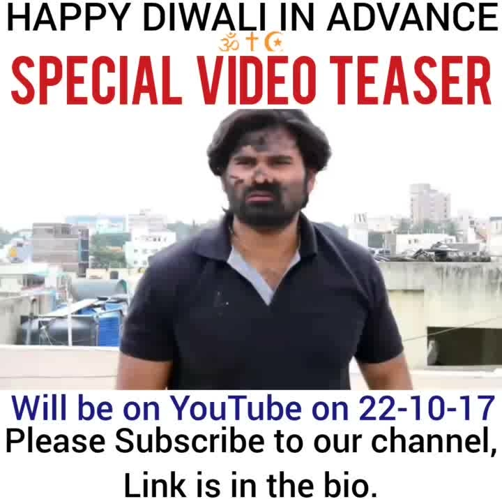 ||Diwali special video teaser✌️|| (Will be on YouTube on 22-10-17, Subscribe to my channel. Link is in the bio). ➖➖➖➖➖➖➖➖➖➖➖➖➖➖➖➖➖➖ Happy Diwali To You And Your Respected Member Of The Family🙏 ➖➖➖➖➖➖➖➖➖➖➖➖➖➖➖➖➖➖ #diwali   #special   #teaser   #trailer   #newyear   #desivine   #indianviners   #youtuber   #linkisinmybio #comedian   #viralvideos   #lastnight   #roposopost   #viners   #hasaanewalechhorekivines