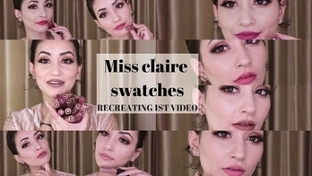 Recreating my 1st Youtube Video!! MISS CLAIRE SOFT MATTE SWATCHES 12 SHADES  #missclaire #ootd #motd #makeup#indianyoutuber #youtuber #beauty #motd #makeup #lipstick #swatches #youtubers #beautyyoutubers