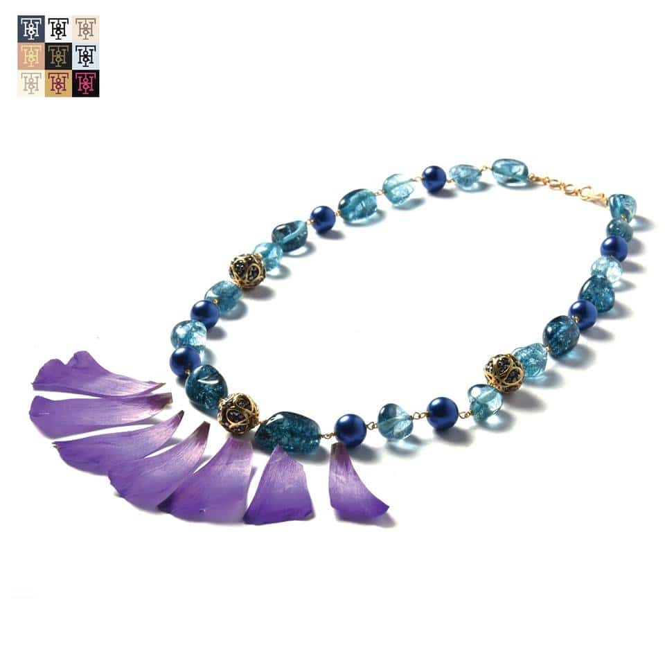 The enchanting amalgamation of shades of blue and mauve creates an ethereal neckpiece. Perfect for an indo-western look!  Place an order here: 9810-333-980. #TuskNHammers #TNH #Jewellery #Bracelets #Jewelry #Necklaces #Rings #ShopNow #ShopOnline #India #Shopping #GlobalShopping #jewelrymaking #festival #newcollection  Website launching soon!