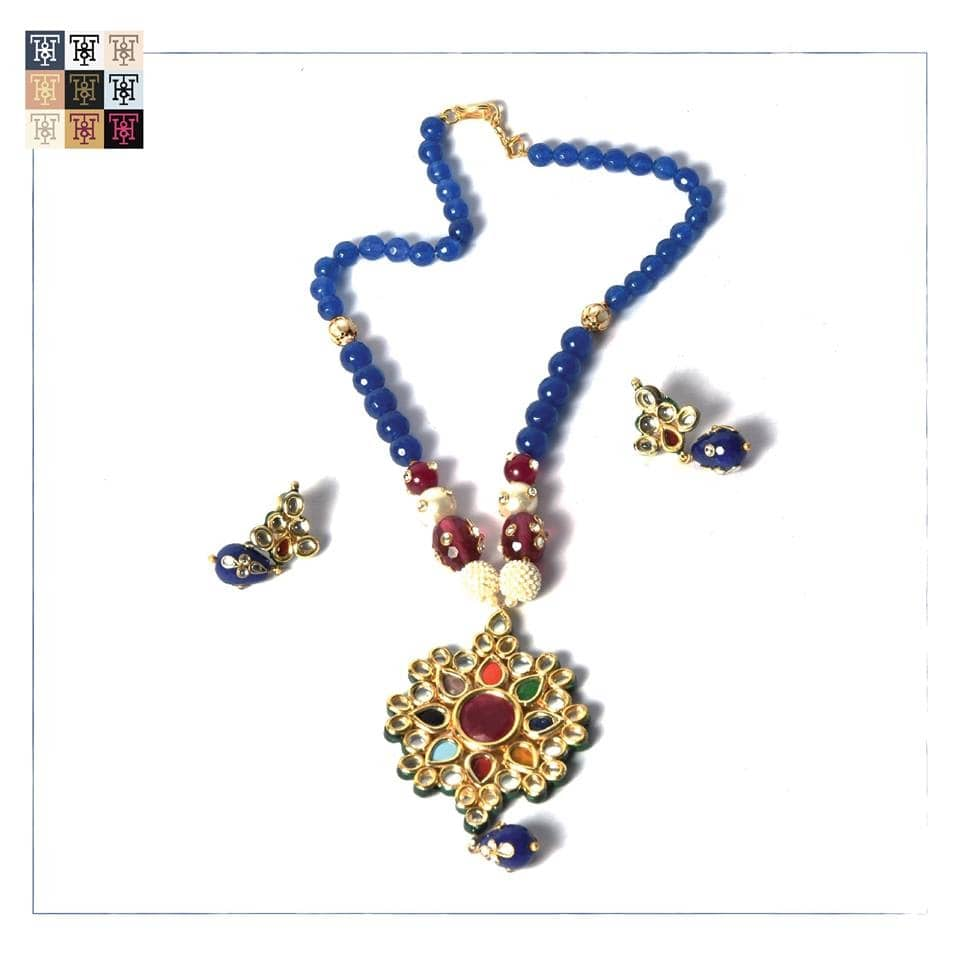 A favourite among the ladies for traditional wear, this neckpiece goes best with multi-coloured outfits for those who love to emphasize on their entire look!  Place an order here: 9810-333-980. #TuskNHammers #TNH #Jewellery #Bracelets #Jewelry #Necklaces #Rings #ShopNow #ShopOnline #India #Shopping #GlobalShopping #ethnicjewelry #festival #newcollection #celebrations Website launching soon!