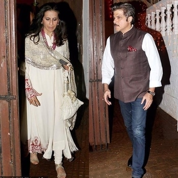 Anil Kapoor looking dapper in custom made waist coat by Raghavendra Rathore at a Diwali party with his wife sunita. . . . . . . #bollywoodstyle #bollywoodstylesuits #bollywooddesignersuits #diwalioutfit #celebrityfashion #cele