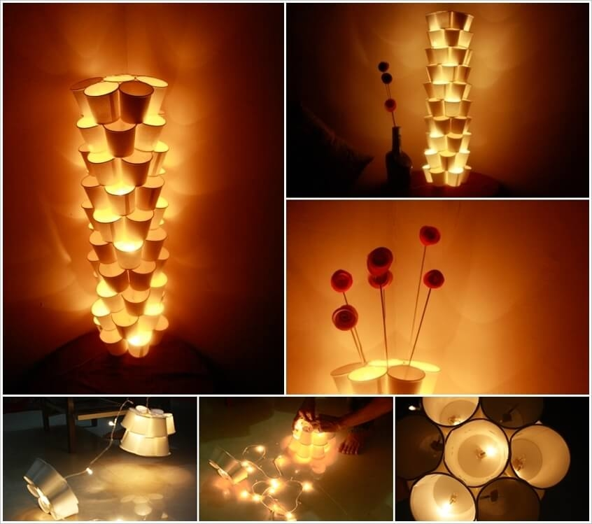 Paper lantern lamps! #prediwali #decorations #light #diy #handmade #diy. papercups.  crafting. organizer