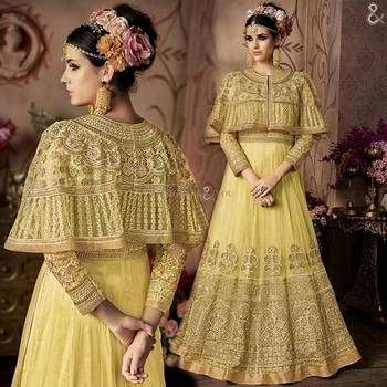 Devastating Yellow Ethnic Gown For Sangeet Party To Be Divine  Buy Here: http://www.designersandyou.com/dresses/gown-dress/devastating-yellow-ethnic-gown-for-sangeet-party-to-be-divine-7233  To View More Designs of Dresses: http://www.designersandyou.com/dresses  To View Gown Dresses: http://www.designersandyou.com/dresses/gown-dress  To View Yellow Gown Dresses: http://www.designersandyou.com/dresses/gown-dress/yellow  To View Diamond Work Gowns DResses: http://www.designersandyou.com/dresses/gown-dress/diamond-work  #Gowns #Gown #Prom #Vintage #Fancy #Wedding #Modest #Princess #Bridal #Fancy #Gowndresses #Gowdress #Designer #Gownsonline #Designersandyou #Designs #Patterns #Embroidery #Heavy #Indowestern #Indowestern #Long #Classy #Trendy #Look #Formal #Withsleeves