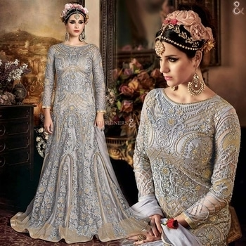 Different Styled Grey Evening Gown Suit With Sleeves For Function  Buy Here: http://www.designersandyou.com/dresses/gown-dress/different-styled-grey-evening-gown-suit-with-sleeves-for-function-7234  To View More Designs of Dresses: http://www.designersandyou.com/dresses  To View Gown Dresses: http://www.designersandyou.com/dresses/gown-dress  To View Grey Gown Dresses: http://www.designersandyou.com/dresses/gown-dress/grey  To View Function Gowns DResses: http://www.designersandyou.com/dresses/gown-dress/function  #Gowns #Gown #Prom #Vintage #Fancy #Wedding #Modest #Princess #Bridal #Fancy #Gowndresses #Gowdress #Designer #Gownsonline #Designersandyou #Designs #Patterns #Embroidery #Heavy #Indowestern #Indowestern #Long #Classy #Trendy #Look #Formal #Withsleeves