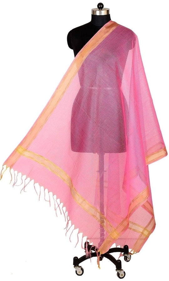Pink Color Banarasi Silk Dupatta  • Pure Banarasi Silk Dupatta • Fabric : Banarasi Silk • Dupatta Size : 100 inches X 36 inches  SKU: DUP0088-Pink Rs. 799  #dupatta