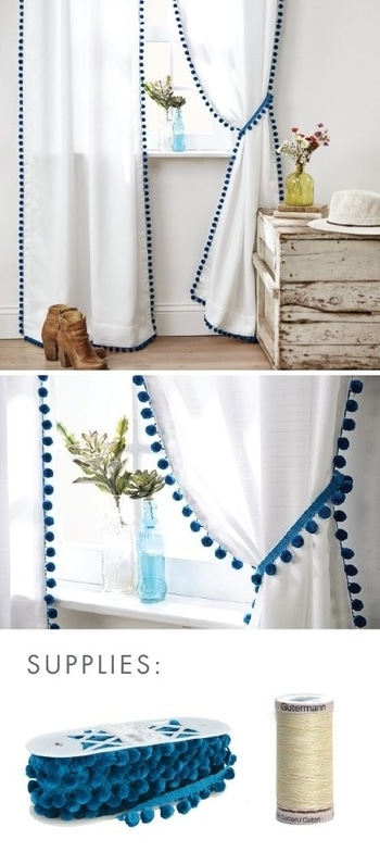 DIY Pom pom curtain #newlook #decor #diwalibling #decorations #diwalidiy #diwalivibes #diwali2017