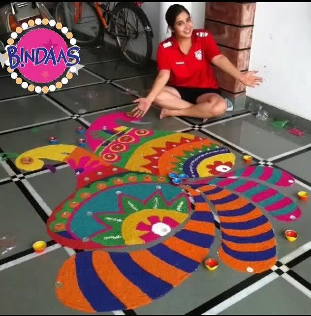 #happy diwali everyone #enjoy your time #crackerfreediwali #diwalidecorations #roposotalenthunt #talenthuntroposo #rangolilover #bindaas #diwali