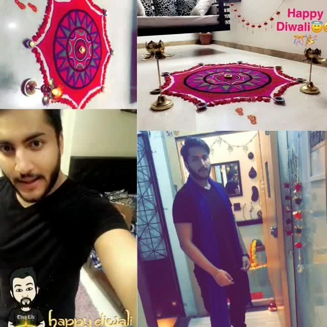 Happiest Diwali ❤️ Love , Light & Happiness to everyone 💯 #rangoli2017 #happydiwali