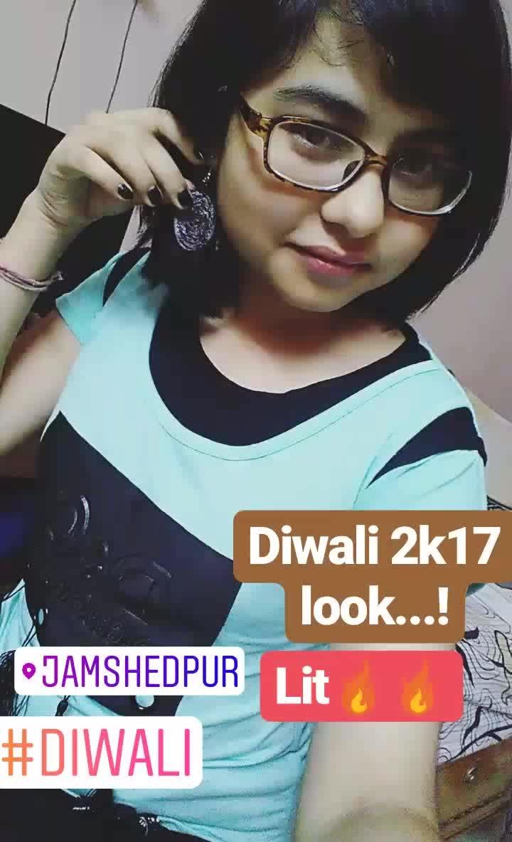 #diwali2017 #newlook #dress #earrings #beauty #ropo-love #ropo-beauty #nocrackers #diwali #kalipujo