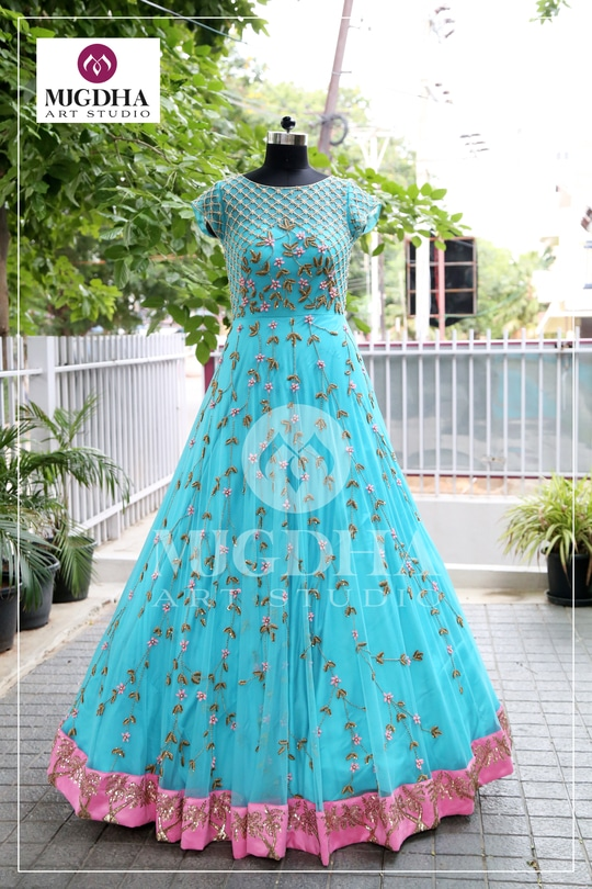 Sure you will fall in love with this wonderful outfit!!! Lovely Color and Artistic design. Grab the one before stock ends . we can customize the color and size as per your requirement  Product code - MA 129 To Order with us :  whatsapp +91 8142029190/ 9010906544