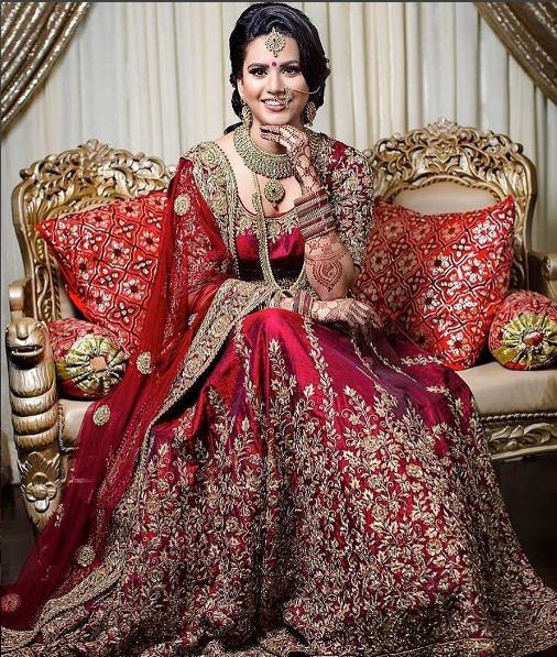 Manisha Our Client In Her Wedding Lehenga