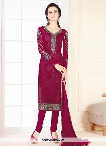 FAUX GEORGETTE CHURIDAR SALWAR KAMEEZ Add grace and charm on your appearance in this #fuchsia faux #georgette #churidar #salwar #kameez.. Beautified with #embroidered, lace and #resham work all synchronized effectively with the trend and style of the attire. Comes with matching bottom and dupatta.  Product Code: 44343 INR Rs2,655 Grab Now @ https://goo.gl/EJkyeH #indianfashion #ethnicfashion #fashion #fashionista  #embroidery #ethnicfashion #indianfashion  #ethnicwear #shopping #onlineshopping #fashion
