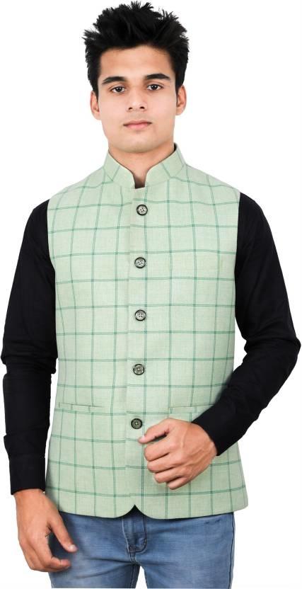 La Rainbow Sleeveless Checkered Men's Jacket  #nehrujacket #jacket #menscoat #vestcoat #fashion #menswear #wintercoat #stylishcoat #like #model #mensjacket #clothing #blazer #newdp #roposo #ffdesignerhunt #blogger #followme #indian #be-fashionable #trendy  *Price Rs. 2200  *Link https://www.flipkart.com/la-rainbow-sleeveless-checkered-men-s-jacket/p/itmezyajc6k4jyuv?pid=JCKEZYFF36GCR9DZ