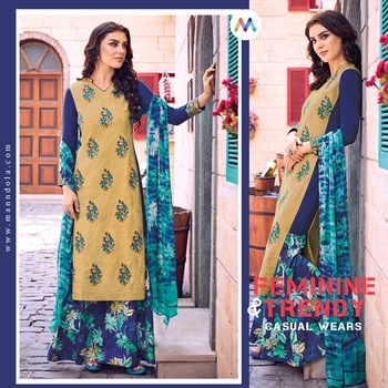 WINTER COLLECTION OFFER!! Enamoring Cream and Blue Casual Straight Cut Style Suit Shop now only @https://goo.gl/DEMb3y #straightcutsuits #onlineshopping #pantstyle #embroiderywork #salwarsuit#salwarkameez #onlineshopping #buyonline #women #womenwear#partywearshopping #anarkali  Manndola.com - Lose your Mind...!!!