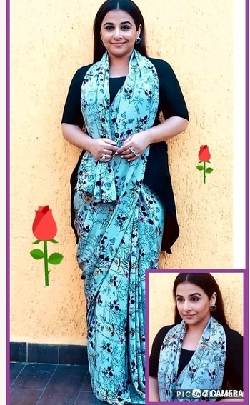 "💜 STYLE ON MY MIND 💜 Reinventing herself #vidyabalan in a modern avatar of saree,are we liking it?""What a delight "".😙😙😙 #designersaree#saree2017#stylesta  tement #fashiondiva#modernsaree#glamourworld #bollywood  actress#fashionstatement #roposo-style #roposo-makeupandfashiondiaries #roposofashionbloggernetwork #roposofashion  #delhifashionbloggernetwork"