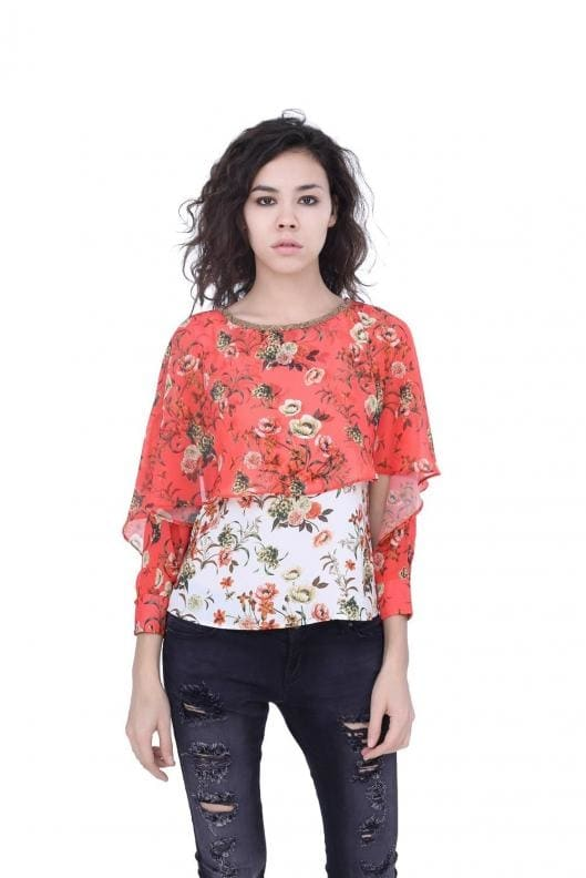 Madame - Double Layered Flower Top @ Rs. 1799  http://www.madameonline.com/products/detail_page/9185  #Madame #Roposo #Roposodiaries #FlowerTop  #WomenFashion #ByEveryoneUR #MadameFashion  #Women #WomenStyle