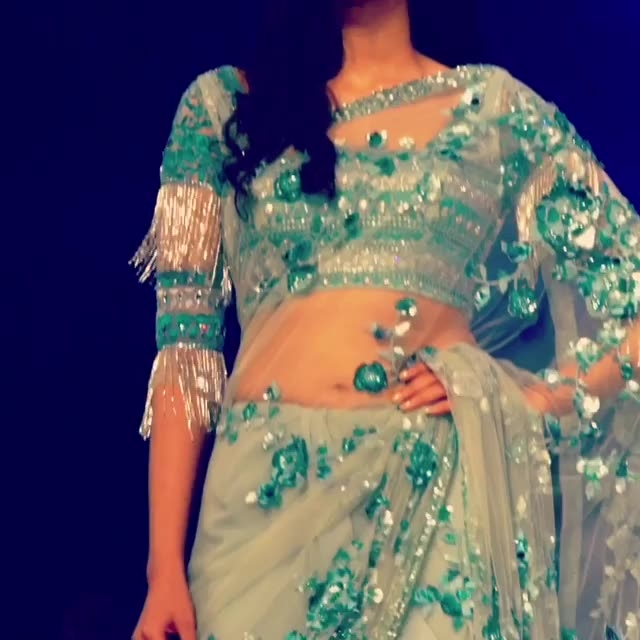 Truly, deeply, madly in luv wid this saree from #SUNEETVERMA. #Gardenofeden. #SVcouture. #Grandfinale.