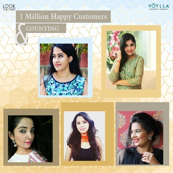 Voylla Family grows larger everyday with your Love. Keep Shining. Keep Shopping. ☺  #HappyShopping #LookThePart #JewelryMeansVoylla Install the App for Exclusive Offers: http://bit.ly/VoyllaAppInstall Shop here: https://goo.gl/wYVkP4