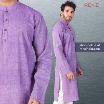 Cherish your wardrobe collection! Try Rene Khadi Cotton Kurta & feel the difference.  Get it here: https://reneindia.com/product/purple-khadi-cotton-kurta-2/  #Kurta #KhadiCotton #Purple #Rene #ReneIndia