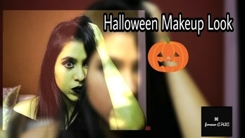 Boo..!! 👻 The video is up now. Tap the link in bio ⬆️⬆️⬆️ Give it a big thumbs up if you like it. Share, comment and subscribe to ForeverChic for more such videos and until next time.. staychic💋 . . . #buddingyoutuber #buddingblogger #showsomelove  #halloween  #halloweencostume  #halloween2017  #halloweenmakeup #myhalloweenlook  #makeupinspo  #makeuphappiness #makeup  #makeuponpoint  #bloggerstyle  #bloggerswanted #photoblogger #fashionbloggerindia  #sporty  #dolledup  #wakeupandmakeup  #trendy  #sling  #staychic