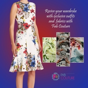 Revive your wardrobe with exclusive outfits and fabrics with Fab Couture!. Grab your fabric at https://fabcouture.in #FabCouture! #DesignerFabric at #AffordablePrices #DesignerDresses#Fabric #Fashion #DesignerWear #ModernWomen #DesiLook#Embroidered #WeddingFashion #EthnicAttire #WesternLook#affordablefashion #GreatDesignsStartwithGreatFabrics#LightnBrightColors #StandApartfromtheCrowd #EmbroideredFabrics