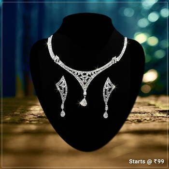 !!!! Statement Necklace !!!! Get Here- https://goo.gl/sHcfxs #Shop #Whitenecklace #Trendydesign #Contemporarylook #Jewelry #jewelmaze