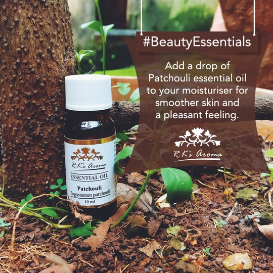 You're one drop of R.K's Aroma Patchouli oil away from getting satin smooth skin! #BeautyEssentials