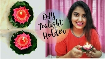 DIY Candle/ Tealight/ Diya Holder | Last Minute Diwali Decoration