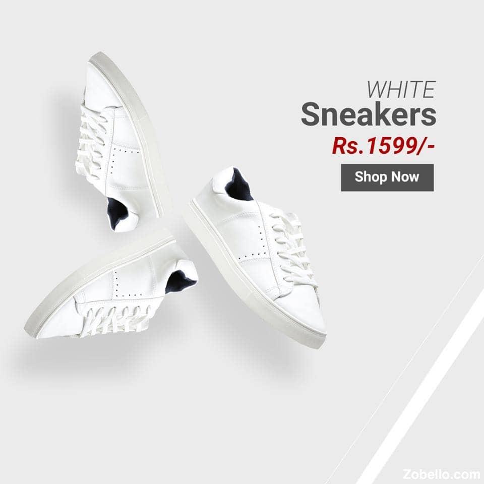 White sneakers still rule the casual fashion scene.  Shop @https://goo.gl/yuEjLc   https://goo.gl/2uRqRW    #zobelloclothing#menswear#sneakers#shopping#shoes #whitesneakers