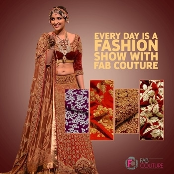Every day is a fashion show with Fab Couture! Grab your fabric at : https://fabcouture.in/  #FabCouture! #DesignerFabric at #AffordablePrices  #DesignerDresses #Fabric #Fashion #DesignerWear #ModernWomen #DesiLook #Embroidered #WeddingFashion #EthnicAttire #WesternLook #affordablefashion #GreatDesignsStartwithGreatFabrics #LightnBrightColors #StandApartfromtheCrowd #EmbroideredFabrics