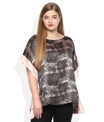 "Qurvii Pink Printed Poncho Top  *Fabric : Satin Silk *Model Specs : This model has a Height 6', Bust 38"", Waist 31"", Hips 37"" and is wearing Size XL. *Printed Poncho top  http://bit.ly/2jdXJ7B  #top #topforgirl #girlstop #ponchotop #qurvii"