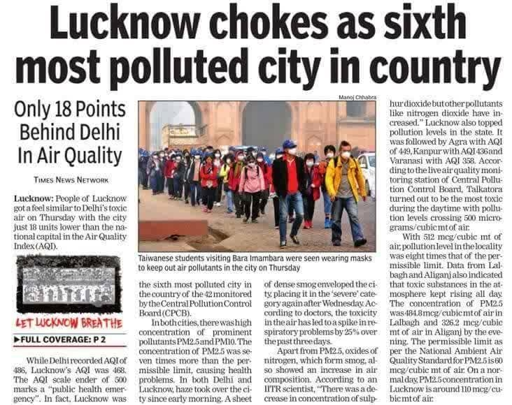 Where is this smog going to lead us??   #nationspeaks #delhi smog #smoggynovember #pollution #lucknow
