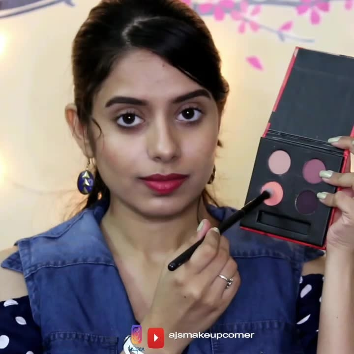 """▶️PRESS PLAY Watch the full review link in the bio  Here is the quick demo of the newly launched sugar cosmetics blend the rules eyeshadow quad in 03 """"ESCAPADE"""" I have also done a detailed review of this eyeshadow quad on my YouTube channel i have also Swatched the eyeshadow individually so check it out👇 https://youtu.be/BW4Smd3KlxY Eyeshadow transformation from day to night using one palette   : SUGAR Cosmetics  #Ajsmakeupcorner #indianyoutuber #chennaiyoutuber #youtubeindia #youtubebloggers #chennaimua #indianbeautyblogger  #YTcreatorsindia #makeupartistinchennai #makeupartist #makeupblogger #trysugar  #indianbeautyyoutuber #indianblogger #sugareyeshadowquad #sugarcosmetics #matteeyeshadow #daytonightlook #instamakeup #instavideo #instamakeupartist #roposotalenthunt #roposomakeupartist #lookgoodfeelgood #sugareyeshadowescapade#chennaiblogger  #beautyinfluencer  #1minutemakeup #makeuptutorial #1minutevideo"""